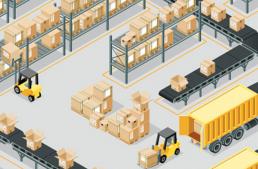 Infographic Warehouse Management met Microsoft technologie voor distributeurs