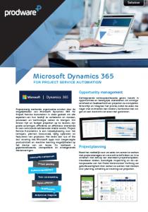 Factsheet Microsoft Dynamics 365 for PSA