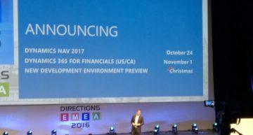 Directions EMEA: NAV 2017 en Dynamics 365