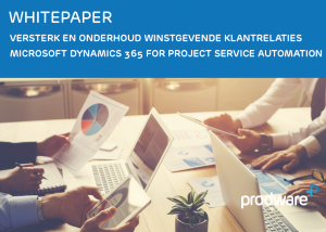 Whitepaper Microsoft Dynamics 365 for Project Service Automation