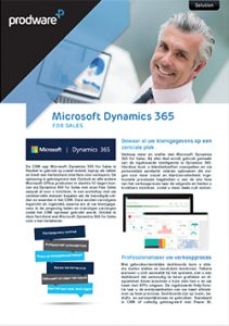 Factsheet Microsoft Dynamics 365 for Sales